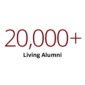Infographic: More than 20,000+ living alumni