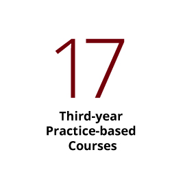 Infographic: 17 third-year practice-based courses